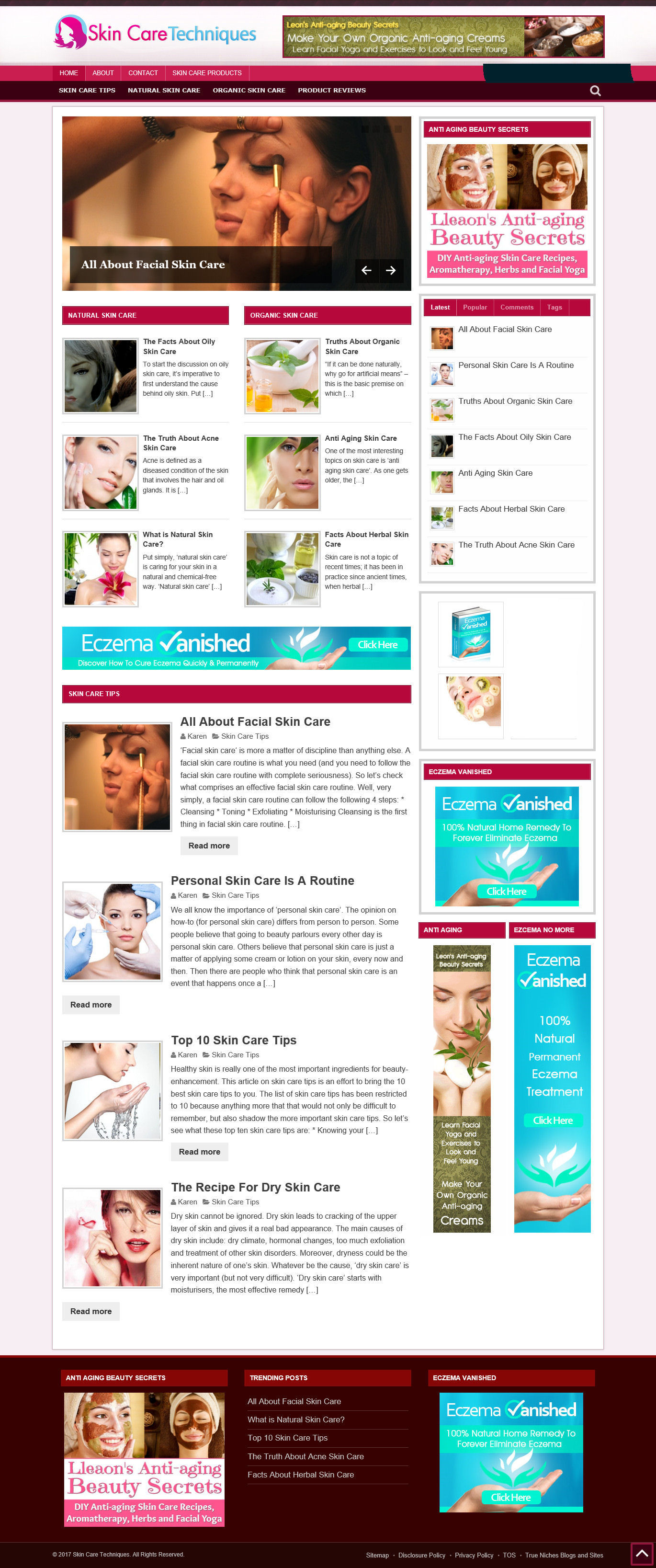 Details about SKIN CARE BLOG & UK AFFILIATE WEBSITE + FREE DOMAIN NAME AND  HOSTING